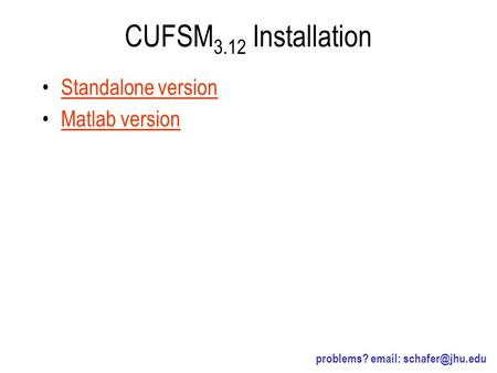 CUFSM3.12 Installation Standalone version Matlab version