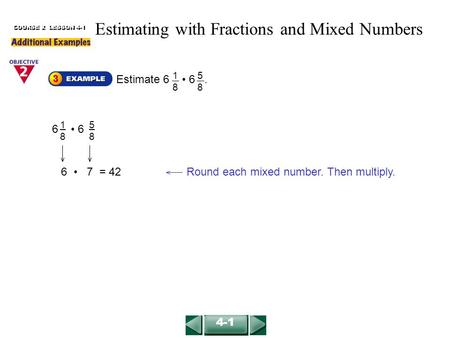 Estimating with Fractions and Mixed Numbers