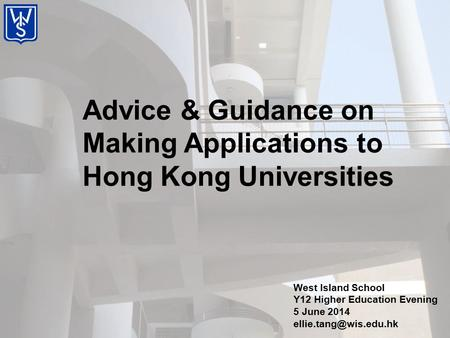 Advice & Guidance on Making Applications to Hong Kong Universities