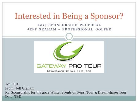 Interested in Being a Sponsor?