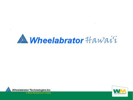 Wheelabrator Technologies Inc. A Waste Management Company.