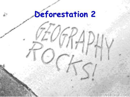 Deforestation 2. 2 Where we have got to: We have looked into:  Who is doing it?  What are they doing it for?  What are the effects of deforestation.