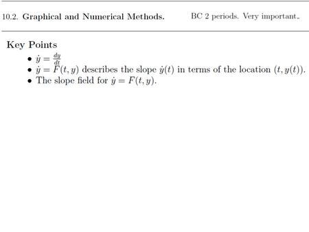 In the previous two sections, we focused on finding solutions to differential equations. However, most differential equations cannot be solved explicitly.