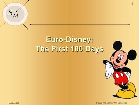 McGraw-Hill © 2000 The McGraw-Hill Companies 1 S M Euro-Disney: The First 100 Days.