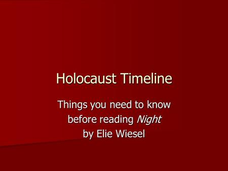 an analysis of suffering and holocaust in night by elie wiesel