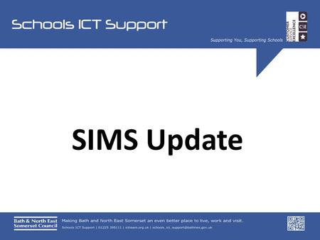 SIMS Update. Spring Upgrade Summer Census Key Stage Returns Teacher App.