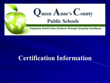 Certification Information. How can you qualify for a Maryland Certificate?