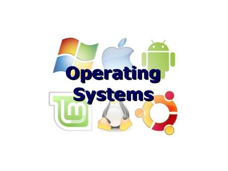 Operating Systems. Software Software – the instructions that make the CPU do useful things Divided into two main categories – System software – Applications.