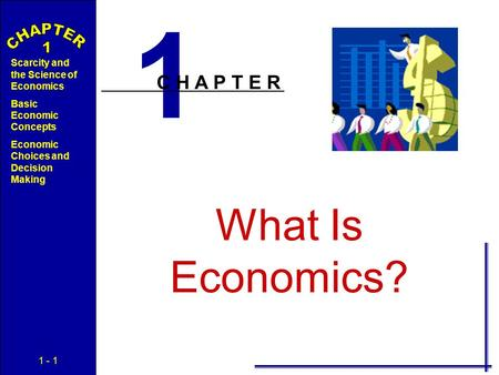 1 C H A P T E R What Is Economics?.
