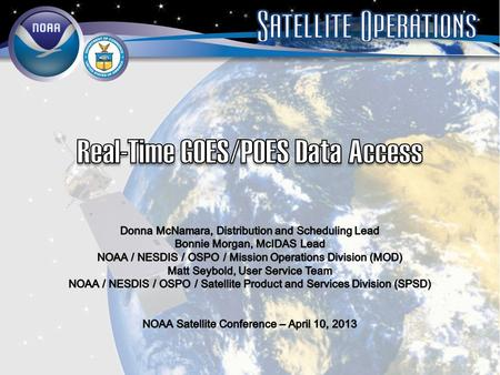 Real-Time GOES/POES Data Access