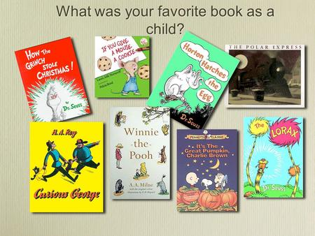 What was your favorite book as a child?. Digital Storybooks with iMovie & KidPix A 21st century project that engages students in reading, reading comprehension,