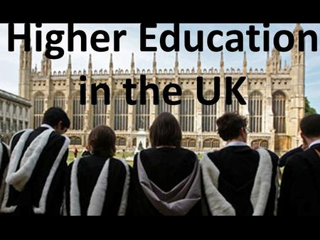 Higher Education in the UK. Top University Table.