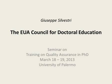education higher quality thesis Phd thesis the quality management in experiences of european quality assurance in higher education 118 the national system of management and education quality.