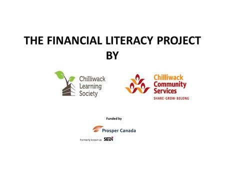 THE FINANCIAL LITERACY PROJECT BY. Who funds this project and why does it matter?