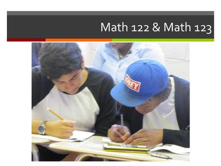Math 122 & Math 123. Introduction to Math ABCS Courses  Math academically-based community service courses that provide the opportunity for Penn students.