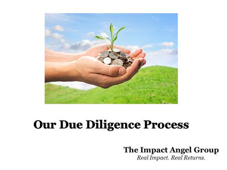 The Impact Angel Group Real Impact. Real Returns..