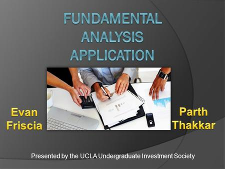 Presented by the UCLA Undergraduate Investment Society.