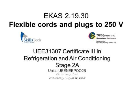 EKAS Flexible cords and plugs to 250 V