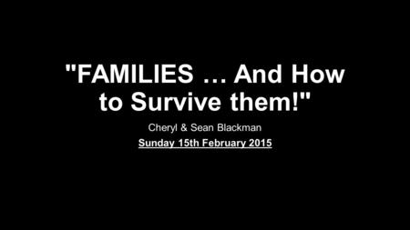 families and how to survive them pdf