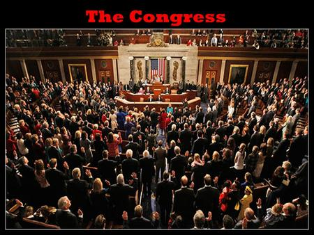 The Congress Congress = bicameral (2 house) legislature made up of a House of Representatives and a Senate Created by the Great ________________ of 1787.