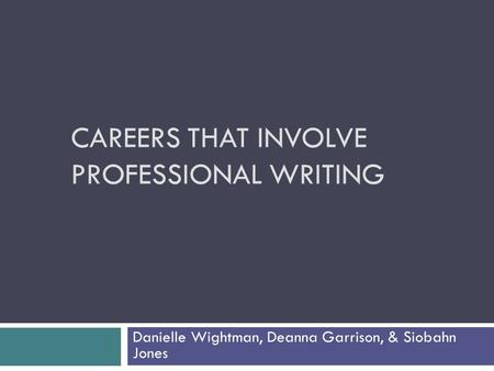 Careers that involve writing