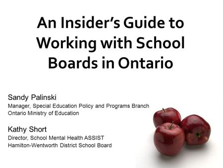An Insider's Guide to Working with School Boards in Ontario