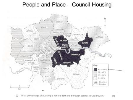 People and Place – Council Housing. ii) Explain one advantage OR one disadvantage of renting a property from the borough council. [2] Advantages –No delay.