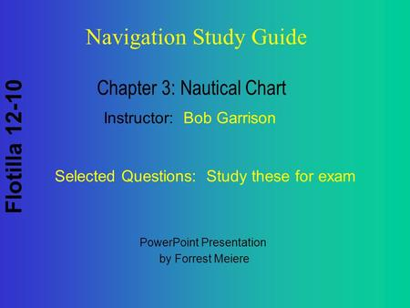 Chapter 3: Nautical Chart