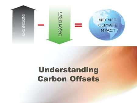 Understanding Carbon Offsets. Anthropogenic greenhouse gas (GHG) emissions Result from human activity - including fossil fuel burning for power generation.