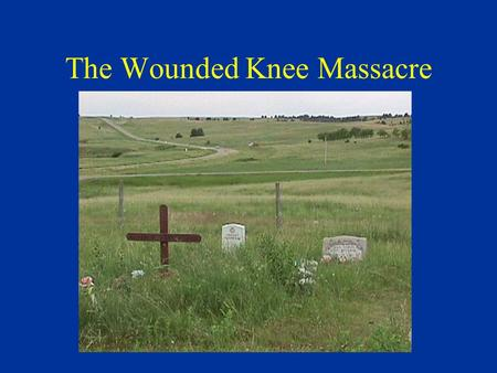 The Wounded Knee Massacre. The Sioux Peaceful nomadic hunters Were promised the Black Hills in the Dakotas A gold rush in 1874 Sitting Bull defeated Colonel.