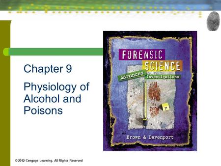 Chapter 9 Physiology of Alcohol and Poisons