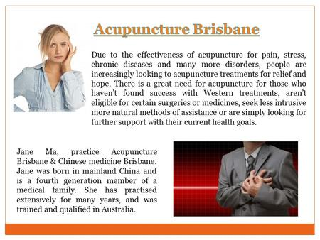 Due to the effectiveness of acupuncture for pain, stress, chronic diseases and many more disorders, people are increasingly looking to acupuncture treatments.