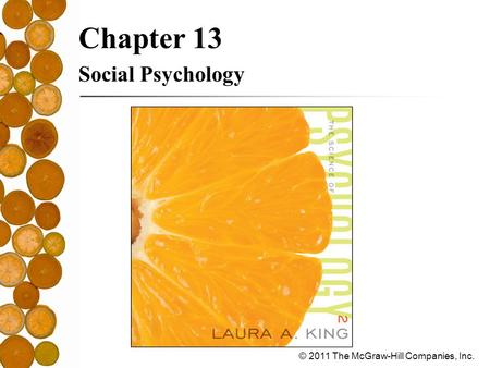 © 2011 The McGraw-Hill Companies, Inc. Chapter 13 Social Psychology.