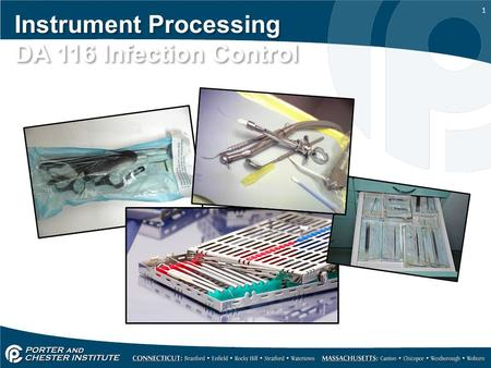 Instrument Processing DA 116 Infection Control