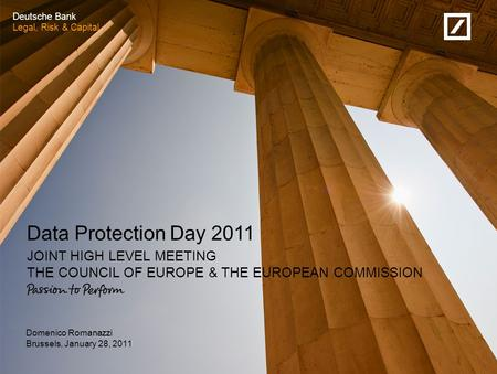 From European to international standards on data protection (1/2)