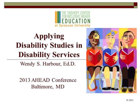 Applying Disability Studies in Disability Services