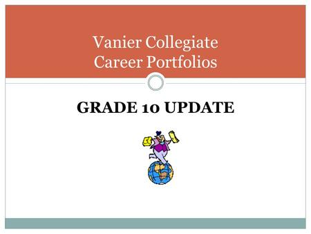 GRADE 10 UPDATE Vanier Collegiate Career Portfolios.