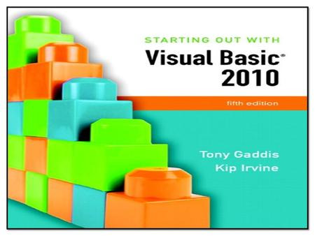 Addison Wesley is an imprint of © 2011 Pearson Addison-Wesley. All rights reserved. Chapter 1 Introduction to Programming and Visual Basic.