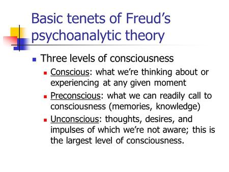 freuds psychoanalytic theory of a personality Psychoanalytic theory of sigmund freud:the ego, free association theory of carl jung:biographical sketch, principles of opposites, the persona the psychological types:childhood, young adulthood, middle ages.