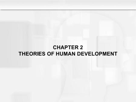 CHAPTER 2 THEORIES OF HUMAN DEVELOPMENT. Learning Objectives What are the main issues addressed by developmental theories? Where does each major theorist.