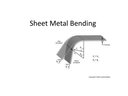 Sheet Metal Bending. Historical Note; Sheet metal stamping was developed as a mass production technology for the production of bicycles around the 1890's.