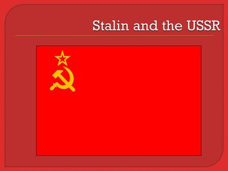 Terms 1. Lenin 2. Stalin 3. Trotsky 4. Five Year Plans 5. command economy What did Stalin's Soviet Union look like? Terms 6. collective farms 7. Kulaks.