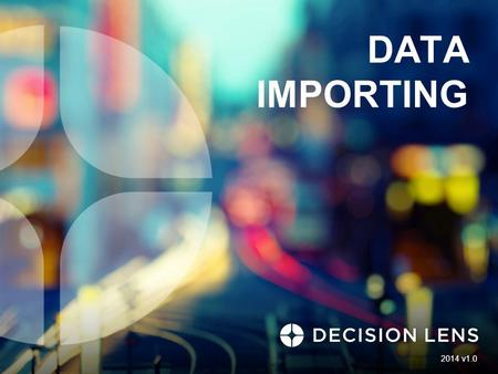 DATA IMPORTING 2014 v1.0. 2 DATA IMPORTING About Data Import 3 Import data from Excel spreadsheets directly into DL3, saving time and effort Import functionality.