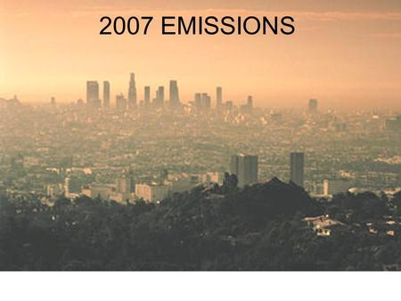 2007 EMISSIONS. EMISSIONS 2007 EPA Costs and Benefits Analysis Compliance costsCompliance costs –Estimated at $1200-1900 per engine –4-5 cents per gallon.