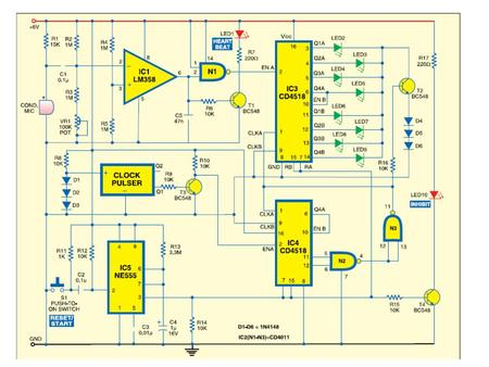 Block Diagram of 4518 Dual BCD Counter The 4518 Dual BCD Counter has two BCD counters. Each counter is similar to the other. Each counter has a master.