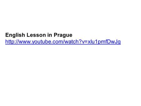 English Lesson in Prague