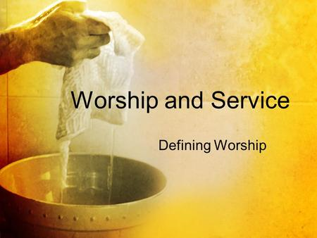Worship and Service Defining Worship. Directly connected Deuteronomy 8:19 (ESV) — 19 And if you forget the L ORD your God and go after other gods and.