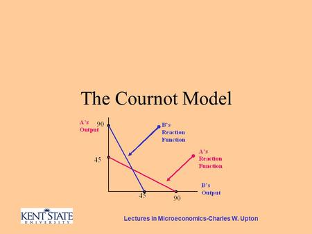 Lectures in Microeconomics-Charles W. Upton The Cournot Model.