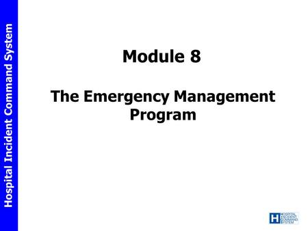 The Emergency Management Program