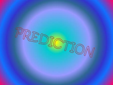 A prediction or a forecast is a statement about the way things will happen in the future, often but not always based on experience or knowledge. While.